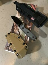 Esee 3 Knife (never used) With Coyote Kydex Sheath And Molle Attachment