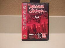 Spider Man: Maximum Carnage Sega Genesis, 1994 Complete Tested Working