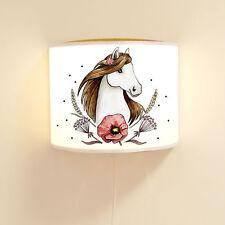 Leseschlummerlampe Kinderlampe Pferd mit Kornblume und Punkte ls74