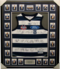 Geelong 2009 Limited Edition Premiers Team Jumper Signed Framed - Ablett Bartel