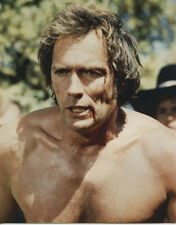 Clint Eastwood barechested looking tough in fight 8x10 Every Which Way But Loose