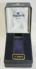 Vintage Tissot Plastic Watch Case Box with 17 Jewels Tag - Nice! No Reserve!