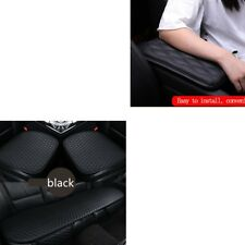 Dust-proof Leather Front + Rear Seat Covers Cushion + Armrest Pad Cover Cushion (Fits: More than one vehicle)