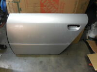 2002 - 2004 Audi A6 C5 Rear Left Driver Bare Silver Door Shell