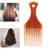 Salon Aircraft Head Shape Comb Oil Head Forks Comb Handle Comb Hair Comb BroALQA