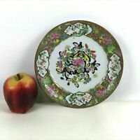 19th Century Rose Medallion Chinese Porcelain Plate Butterfly Decorated #216..