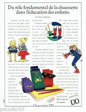 PUBLICITE ADVERTISING 046  1988  Chaussettes enfants DD par Aline du Bussange
