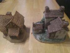 David Winter -Great Britain 1980 Ceramic House Figurine-Little Market + Cottage