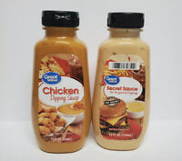 Great Value! 1 Secret Sauce & 1 Chicken Sauce Like Big Mac & Chick fil A Sauces|