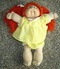 Vintage Cabbage Patch Kids doll Red Hair Blue Eyes Yellow Dress 1978-82.Original