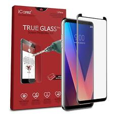 Icarez [Full Coverage Black Glass ] Screen Protector For Lg V30 / Lg V30S Thinq