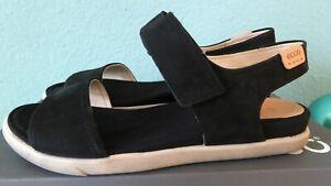 ecco Damen Sandalette Sandale Gr. 38 schwarz Nubukleder - Neu-