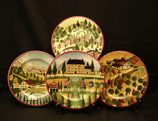 Country Village by Block SALAD PLATE 8 1/8\  SET OF 4 & Country Ceramic Decorative Plates | eBay