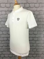 EA7 EMPORIO ARMANI MENS WHITE SHIELD SHORT SLEEVE POLO SHIRT DESIGNER SMART AD