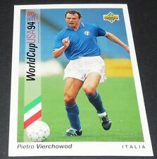 VIERCHOWOD SAMP ITALIA FOOTBALL CARD UPPER USA 94 PANINI 1994 WM94 COUPE MONDE