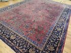 9x12 Antique Turkish Sparta wool hand-knotted Oriental Area Rug Purple RED Blue