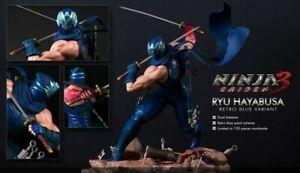 Ninja Gaiden 3 - Ryu Hayabusa Light Up Resin Statue (Retro Blue) -RARE 49 of 100
