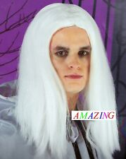 CAST A SPELL HAUNTINGLY MAGICAL LONG WHITE WIZARD WIG FOR ADULTS AGED 14 + NEW