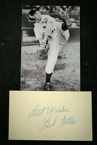 Vintage Playing Days 1950 Bob Feller Indians Signed and Inscribed GPC HOF D 2010