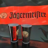 Jägermeister Festival Becher schwarz mit Schriftzug + Logo 0,2l Partybecher