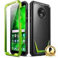 Poetic Motorola Moto G6 Case [Guardian] Rugged Clear Hybrid Bumper Case Green