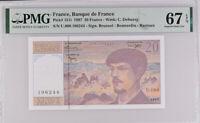France 20 Francs 1997 P 151 i Superb GEM UNC PMG 67 EPQ
