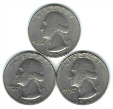 1965+1966+1967 Philadelphia Circulated Washington Quarter, (3 Coins)!