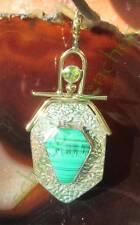 Colgante Malaquita Verde Piedra d Afrodita Símbolo para Belleza PLATA DE LEY 925