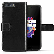 Real Genuine Leather Wallet Case For The OnePlus 5 License Slot Flip Phone Cover