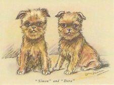 Brussels Griffon Puppy - Matted Dog Print - Lucy Dawson