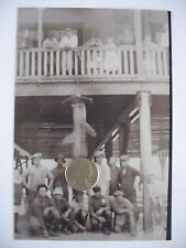 Early negative & photo Hammerhead shark trophy capture Pier New Orleans c1915
