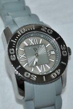 "Swiss Legend ""Commander"" Grey Textured Silicone Watch w/Date SL-10114-GM-014"
