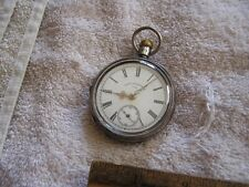 Antique Silver Waltham Traveler Pocket Watch