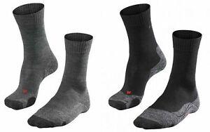 FALKE TK 2 WOMEN Trekkingsocken Wandersocken Damen Socken 16445 schwarz / grau