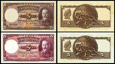 !COPY! 2 STRAITS SETTLEMENTS 5 DOLLARS 1932 1935 BANKNOTES !NOT REAL!
