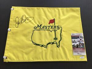 RORY MCILROY AUTOGRAPHED UNDATED MASTERS AUGUSTA NATIONAL FLAG GOLF JSA COA