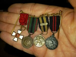 Finland, Republic, WW2 mounted miniature medal group of 4, inc Order of the Lion