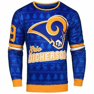 NFL Men's Los Angeles Rams Eric Dickerson #29 Retired Player Ugly Sweater