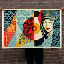 """Shepard Fairey Obey Giant """"Raise The Level"""" Print Signed/Numbered #/550 *IN HAND"""