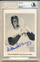 58-61 Jay Publishing Willie McCovey Rookie Autographed HOF Rookie Card Beckett