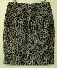 misses size 6 Allison Taylor SKIRT black silver gray