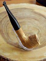 Briar Wood Tobacco Pipe - German Hand Crafted Natural Briar Wood Straight Pipe