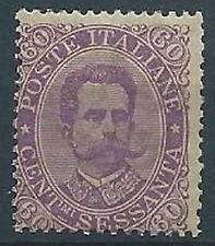 1889 REGNO UMBERTO I 60 CENT MNH ** - T243-6