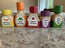 Play Kitchen Food Melissa & Doug Wooden Magnetic Lid Bottles Condiments