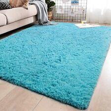Soft Blue Shaggy Area Rugs for Living Room Bedroom Non-Slip Carpet 5.3'x7.6'