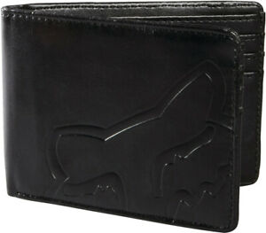 FOX RACING MENS ADULTS WALLET CORE IN BLACK CARD SLOTS ZIP COIN ID BI FOLD PU