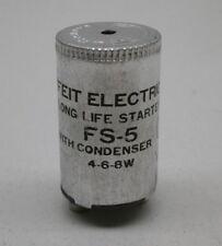 Lot of (10) Feit Electric Fs-5 Fluorescent Lamp Starters for 4W 6W 8W Bulbs