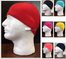 Spandex Dome Cap Helmet Liner Sports FootBall Biker Beanie Black *Please Read*