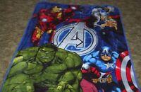 Avengers Fleece Blanket 50 x 60 * Brand New Iron Man Captain America Hulk Thor