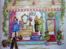 DMC counted cross stitch kit Chic Boutique shop BK1543 14ct iridescent aida
